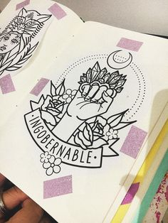 (notitle) - A Feminist Tattoo, Feminist Art, Tattoo Nightmares, Kawaii Doodles, Anime Stickers, Cute Images, Book Journal, Cute Drawings, Screen Printing