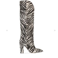 Black&White Horsehair Zebra V-Cut Block Heel Knee High Boots for $99.99   Up2Step Casual Heels, Casual Boots, Zebra Shoes, Horse Hair, Thigh High Boots, Fashion Boots, Block Heels, Cut Block, Black White