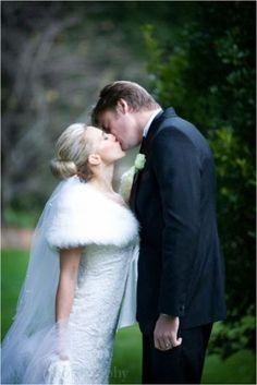 Amelia Phillips on her wedding day. Shrug, veil and wedding dress by Skarr Bridal