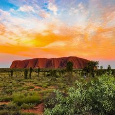 See #Uluru #NationalPark with it's spectacular red rocks and domes rising out of the Central Australian desert #Australia #Travel