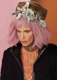 Wispy, coloured hair, pink, bangs http://au.cloudninehair.com/