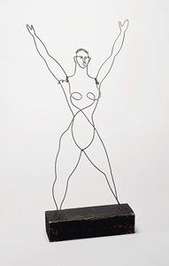 Calder's circus figures, made of wire, are incredible examples or economy and dynamic line.