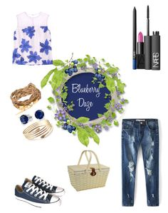 """""""Blueberry Daze."""" by campanellinoo on Polyvore featuring Converse, Bling Jewelry, Picnic at Ascot and NARS Cosmetics"""