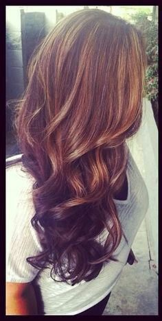 Dark brown with caramel