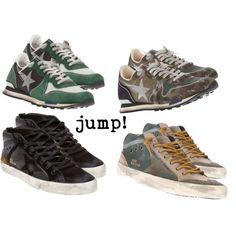 """Jump!!!"" by jofrebcn on Polyvore #goldengoose #goldengoosedeluxebrand #trainers #sneakers #goldengoosetrainers #shoes #sportstyle #goldengoosesneakers"