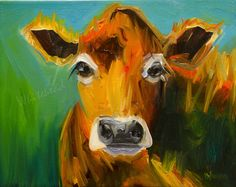 Daily Painters Abstract Gallery: DIANE WHITEHEAD FINE ART COW FARM ANIMAL ART