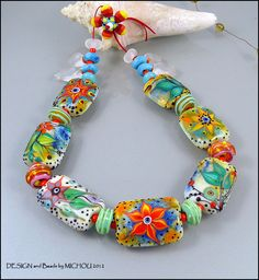 Garden full of Love -  Glass bead Set by Michou Pascale Anderson. $269.00, via Etsy.
