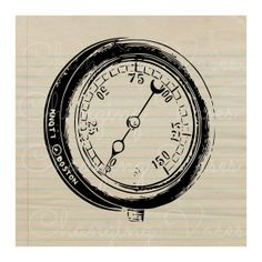 Digital Download Vintage Pressure Guage Graphic by ChangingVases, $1.50