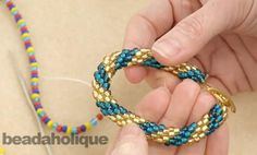 Another pinner said: How to Do Spiral Crochet with Beads  Best Crochet Rope Tutorial I've seen!