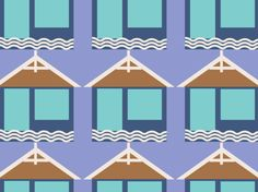 """BEACH HUTS 2014"" by clairyfairy. Bedding in organic cottons. Cushions in linens. Upholstery in heavy duty twill."