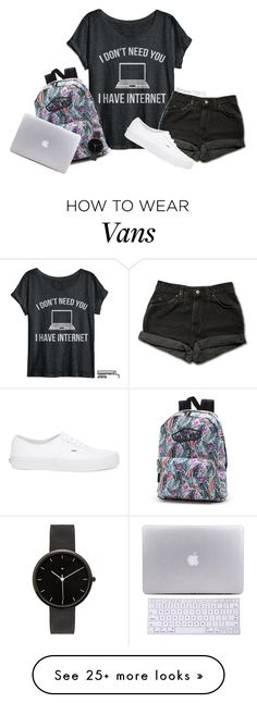"""And pizza~ my style"" by maxie10970 on Polyvore featuring Levi's, Vans, I Love Ugly, women's clothing, women, female, woman, misses and juniors"