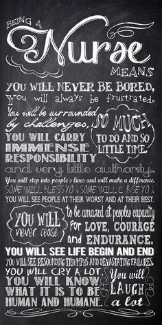 Personalized Chalkboard Nurse Rules - Subway Sign Art Print - Wall Art - digital file