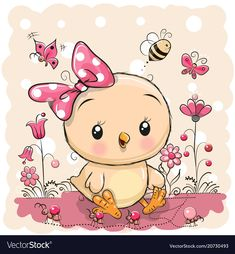 Illustration about Cute Cartoon Chicken with flowers and butterflies. Illustration of chicken, beautiful, childbirth - 112519728 Cartoon Cartoon, Baby Painting, Painting & Drawing, Cute Images, Cute Pictures, Cartoon Chicken, Cute Baby Wallpaper, Cute Chickens, Tatty Teddy