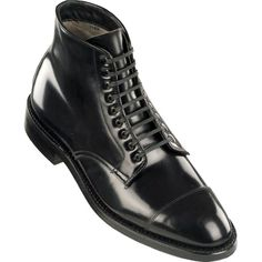 Alden Black Shell Cordovan Cap Toe Boot