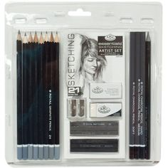 Royal Langnickel Essentials Sketching Pencil Set, 21-Piece ($17) ❤ liked on Polyvore featuring home, home decor, office accessories, fillers, art, accessories, other, stuff and sketch pencil set