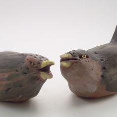 Ornamental Ceramic Bird Duet