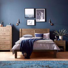 28 Best Dark blue bedrooms images | Colors, Blue bedroom, Color palettes
