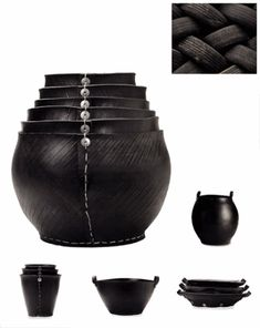 Recycled tire tubs and pots