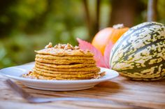 Pumpkin spiced coconut pancakes