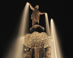 Genius of Water - Fountain Square in downtown Cincinnati. Not far from WKRP's offices :)
