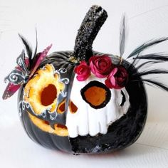 Make a Dr. Jekyll and Mr. Hyde version out of your pumpkin with simple craft materials.
