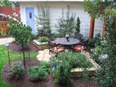 pool and patio decorating ideas on a budget | Photo 1 of 10 This lively, lush patio area replaces a bare space and ...