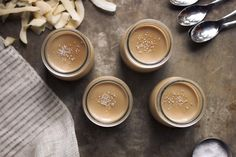 Salted Caramel Coconut Panna Cotta