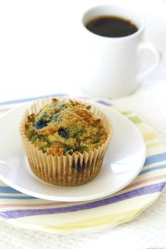 Grain Free Blueberry Muffins and Homemade Baking Powder via DeliciouslyOrganic.net