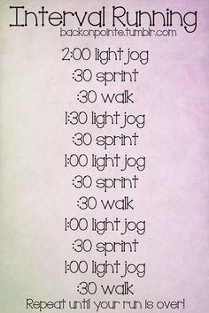 Workout! Interval running