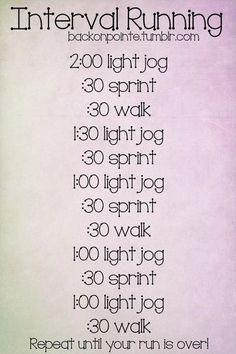 Workout! Interval running