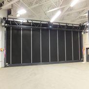 Rytec Doors Powerhouse™ XL Rubber Door High performance rolling rubber door ideal for industrial applications & Rytec Doors Clean-Roll® High-speed hygienic rolling door for ...