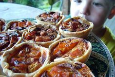 pumpkin feta tarts