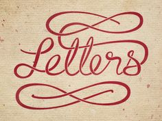 Letters | hand lettering by seanwes