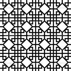 Chinese Fabric Patterns | Chinese Pattern - Stock Illustration