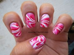 Colors used: OPI - Kiss Me On My Tulips Sally Hansen X-treme Wear - Cherry Red Wet N' Wild - French White