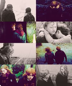 """all's fair in love and war,"" said ron brightly, ""and this is a bit of both."" Ron and Hermione"