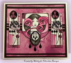 Pink and Black Stained Glass (by Shirley)