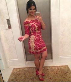 Vestido de festa curto Miss Mano