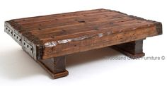 This Wood Beam Coffee Table is a one of a kind piece. Only a few each year will be available. Reclaimed barnwood beams are used to create a thick, massive coffee table. You can specify the height you would like. It may not look as tall in the photo, but the one in the first