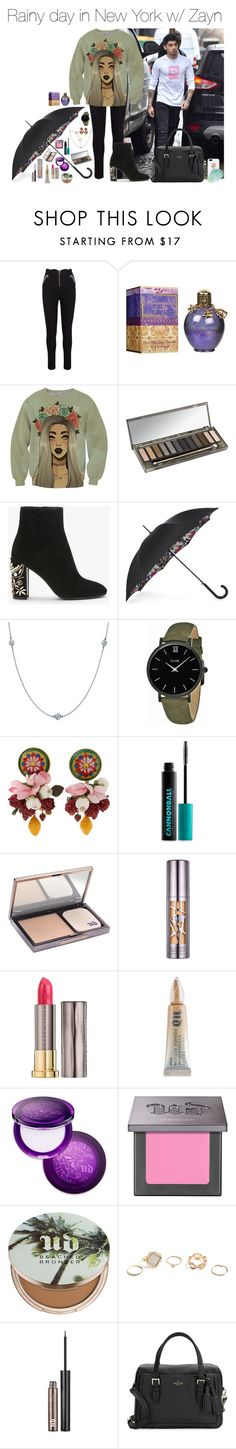 """""""rain.set"""" by hsmklau ❤ liked on Polyvore featuring Urban Decay, Fulton, Elsa Peretti, CLUSE, Dolce&Gabbana, GUESS, Kate Spade and Ashlyn'd"""