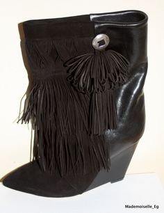 NEW!!! ISABEL MARANT FALL 2012 JACOB FRINGED BOOTS!! SIZE 41 IN BLACK !!