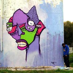 Europe's largest street art and graffiti festival Greece Painting, Character Base, Photography Website, Street Artists, Medium Art, Urban Art, Mixed Media Art, Surrealism, Graffiti