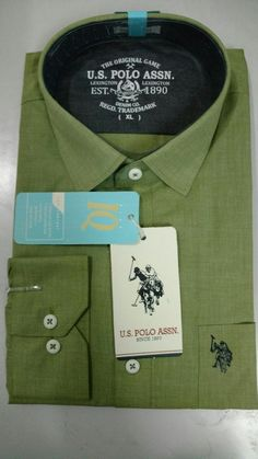 US Polo Assn Original Light Green Shirt, MRP- Rs 2599 | Branded Products For Sale Call / Whatsapp @ +919560214267.