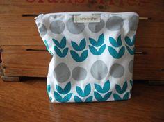 Turquoise Tulip Splash Makeup Bag by HASinspiration on Etsy, $18.00