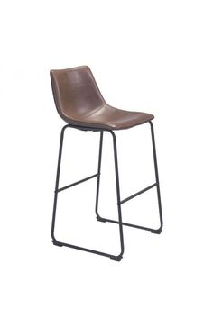 Smart Bar Chair - 100507Features: -Color :Vintage EspressoProduct Cover (Upholstery Material or Type of Metal) :LeatheretteProduct Finish (Structure Materiel or Type of Wood) :Plywood, MetalDimensions :Chair :18.9