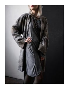 Handpainted Viscose Coat – by independent designer 04405, €285 at Vathir.com   Handpainted viscose coat with belt, embroidery, 2 pockets, lining.