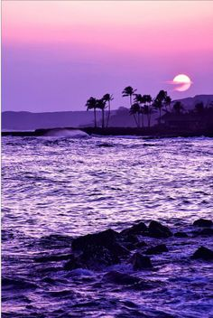 Image Reasons Why Hawaii Is One of The Most Spectacular and Peaceful Places on Earth Beautiful sunset.Going Places Going Places or Goin' Places may refer to: Purple Love, All Things Purple, Shades Of Purple, Purple Sunset, Purple Beach, Purple Stuff, Pink Purple, Lilac, Purple Nails