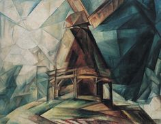 Lyonel Feininger, Windmill (1918)