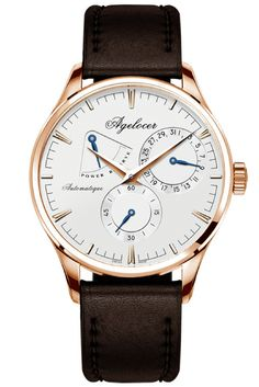 """A Swiss-made, self-winding, military style watch designed to emulate the quiet sophistication of the """"Paris of Eastern Europe"""". The intricate mechanism containing a total of 29 rubies underlies the exquisite exterior, designed with simplicity and topped with the finest sapphire crystal face.  #watches #fashion #style"""