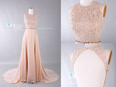 2015 Sweet 16 Champagner Beading Lace Prom Kleid/Open von DressHome